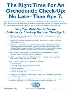 The Right Time For An Orthodontic Check Up