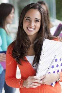 Teenager Girl Smiling